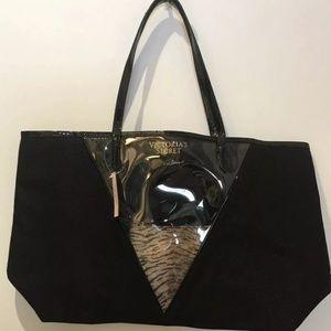 Victoria's Secret Black Tote & Makeup Bag